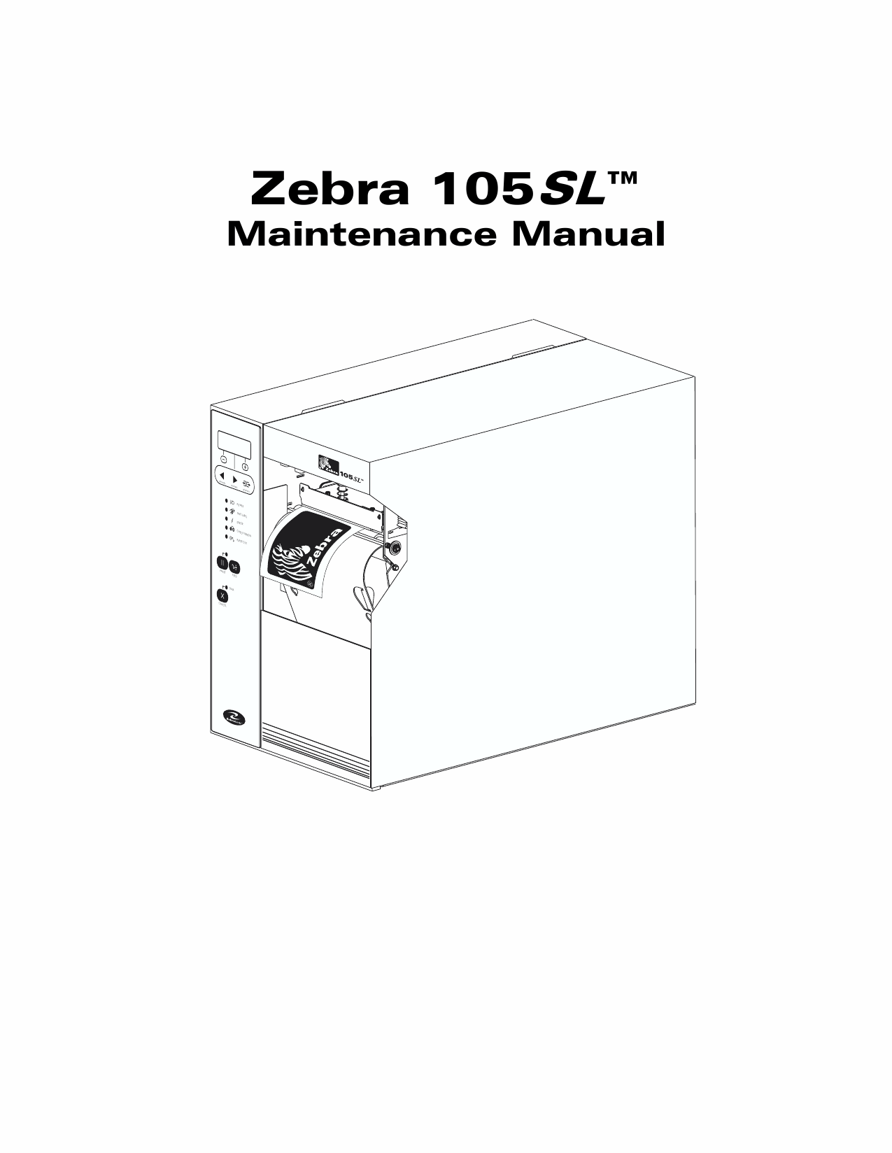Zebra Label 105SL Maintenance Service Manual